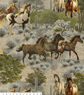 Anti Pill Fleece Fabric -Desert Horses