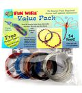 Fun Wire 22 Gauge Plastic Coated Copper Wire-9ft 5PK/Primary