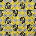 Harry Potter Flannel Fabric-Hufflepuff Argyle