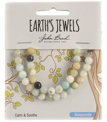 Earth's Jewels Semi-Precious Round 6mm Beads-Amazonite