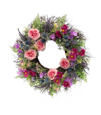 Fresh Picked Spring 24'' Wildflower & Grapevine Wreath