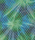 Legacy Studio Batik Fabric 44\u0027\u0027-Metallic Diamond on Green & Blue