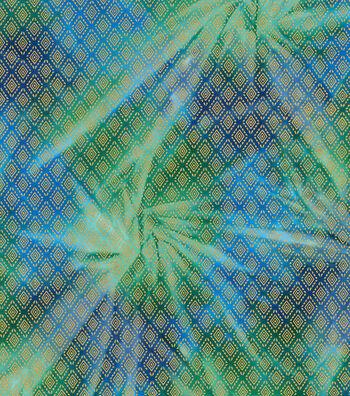 Legacy Studio Batik Fabric 44''-Metallic Diamond on Green & Blue
