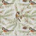 Christmas Cotton Fabric-Chickadee Snowflakes
