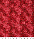 Keepsake Calico Cotton Fabric -Red Packed Petals