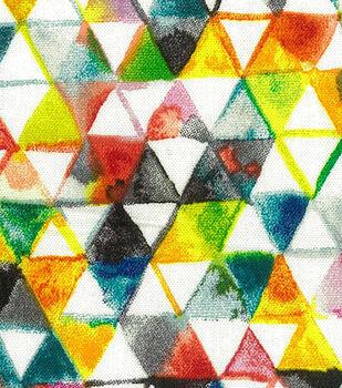 Premium Wide Cotton Fabric-Watercolor Triangles