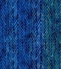 Luxe Flannel Fabric -Blue & Green Geometrics