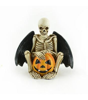 Maker's Halloween Littles Skeleton with Wings & Pumpkin