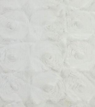 Faux Fur Fabric-Cream Swirl