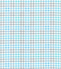 Quilter\u0027s Flannel Fabric-Stork Gingham Light Blue