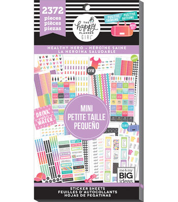 The Happy Planner Girl Value Pack Stickers-Healthy Hero Mini