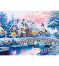 Diamond Embroidery Facet Art Kit 21.7\u0022X29\u0022-Winter Village
