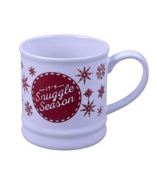 Handmade Holiday Christmas 16 oz. Stoneware Mug-It's Snuggle Season