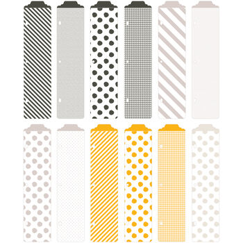 Project Life Designer Dividers Midnight Edition 12/Pkg-12 Dividers & 14 Label Stickers