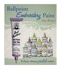 Aunt Martha\u0027s Ballpoint Paint Tubes 1 Ounce 8/Pkg- Pastel Colors