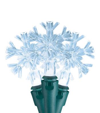 Maker's Holiday Christmas 20 ct Snowflake LED Cool White String Lights