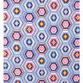 No Sew Fleece Throw 72\u0022-Mint Periwinkle Geo