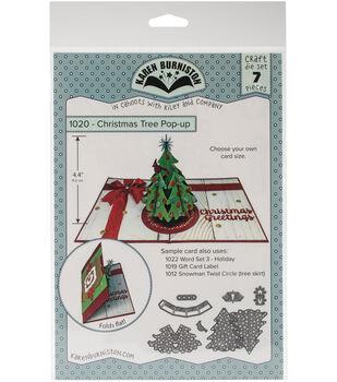 Karen Burniston 7 pk Dies-Christmas Tree Pop-Up
