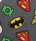 DC Comics Flannel Fabric-Logos