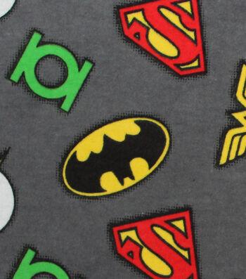 "DC Comics Flannel Fabric 42""-Logo"