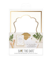 American Crafts Gold Wedding Invites with Envelopes, , hi-res