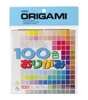 """Origami Paper 5.875""""X5.875"""" 100 Sheets-Assorted Colors"""