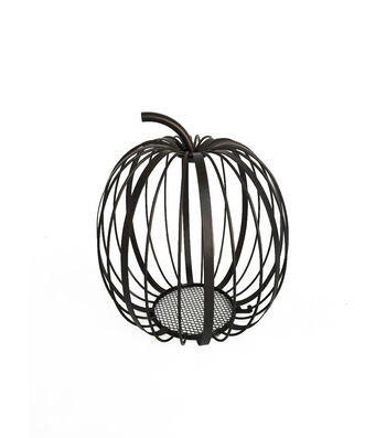 Simply Autumn Large Open Wire Pumpkin