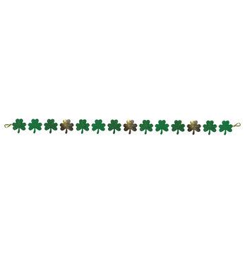 St. Patrick's Day Decor 3.5''x60'' Shamrock Banner