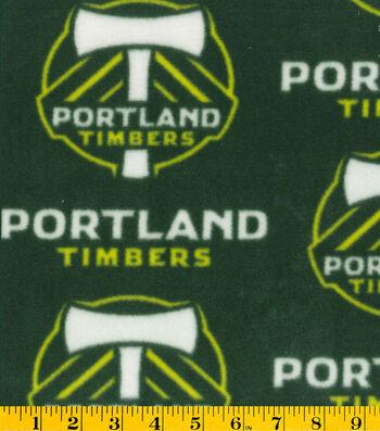 "Portland Timbers Fleece Fabric 58""-Logo"