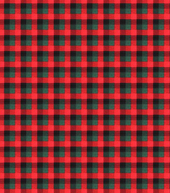 Red & Green Buffalo Check Super Snuggle Flannel Fabric, , hi-res, image 2