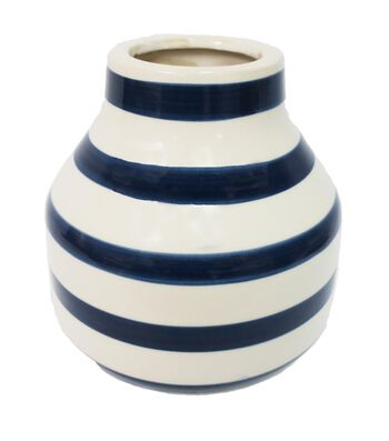 Fresh Picked Spring Large Ceramic Container-Stripe