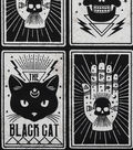 Halloween Cotton Fabric 43\u0022-Black Magic Cards