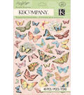 K&Company Susan Winget 40 pk Butterfly Pillow Stickers-Floral