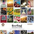 Colorbok 68lb Designer Single-Sided Paper 12\u0022X12\u0022-Heartland, 25 Designs/