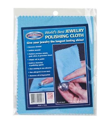The Bead Buddy 9.25''x6'' Jewelry Polishing Cloth