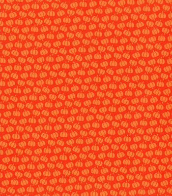 Harvest Cotton Fabric-Orange Mini Tossed Pumpkins