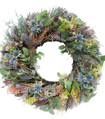 Fresh Picked Spring 24'' Lavender Wreath-Colorful