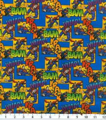 DC Comics Superman Cotton Fabric -Bam