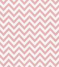 Nursery Flannel Fabric -Chic Chevron Coral Blossom