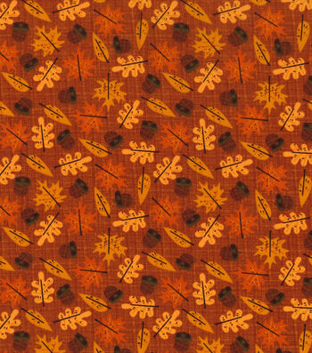 "Autumn Inspirations Cotton Fabric 43""-Harvest Leaf"