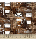 Snuggle Flannel Fabric 42\u0022-Coffee Anyone