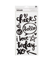 American Crafts Thicker Stickers-Chic Phrases, , hi-res