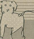 ED Ellen DeGeneres Upholstery Fabric 27\u0027\u0027-Shale Doodle Dog