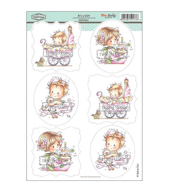 """Wee Stamps Topper Sheet 8.3""""X12.2""""  -It's A Girl"""