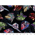 Marvel Comics Avengers Cotton Fabric -Tossed