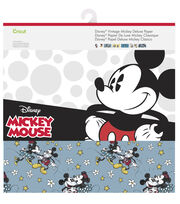Cricut 12 Pack 12''x12'' Disney Vintage Mickey Deluxe Papers, , hi-res