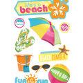 Life\u0027s a Beach 3-D Stickers