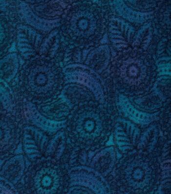 Anti-Pill Fleece Fabric 58''-Stamped Blue