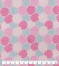 Snuggle Flannel Fabric-Pink Mint Burst