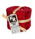Jelly Roll Cotton Fabric Pack 2.5\u0027\u0027x42\u0027\u0027-Red & Metallic